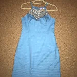 NWT Lilly Pulitzer Larina Shift, Seaspray Blue (4)
